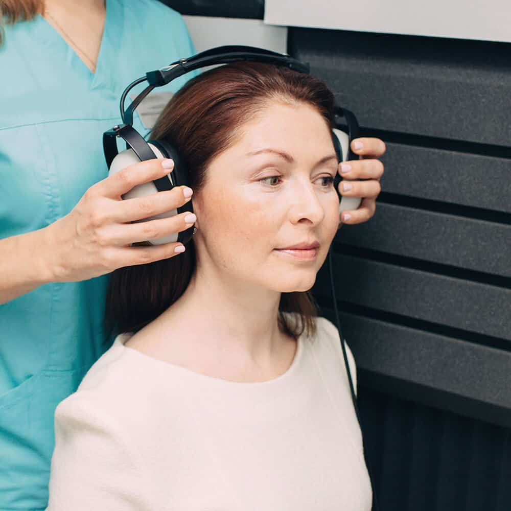 starting a hearing test